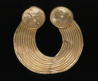 Photo of Collar known as The Shannongrove Gorget, maker unknown, probably 800-700 BC, Ireland. Museum no. M.35-1948. © Victoria and Albert Museum, London
