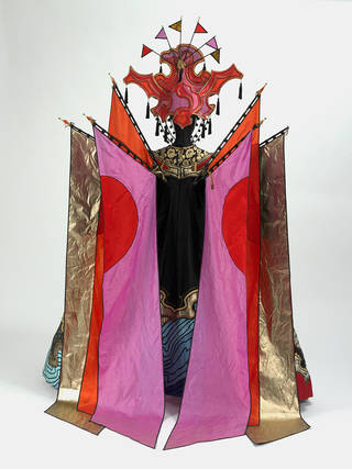 Photo of Costume for the Fairy in Béla Bartók's ballet 'The Wooden Prince', Philip Prowse, 1981, London. Museum no. S.731-1985. © Victoria and Albert Museum, London