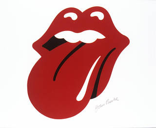 Photo of Artwork for the Rolling Stones Hot Licks logo, Jon Pasche, 1970. Museum nos. S.6120-2009 & S.6121-2009. © Victoria and Albert Museum, London/Musidor B.V.
