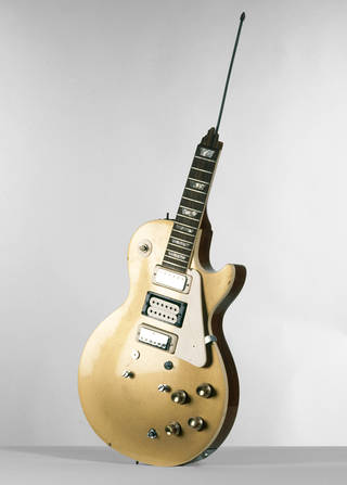 Photo of Les Paul Guitar broken by Pete Townshend, Gibson, about 1960. Museum no. S.12-1978. © V&A Images