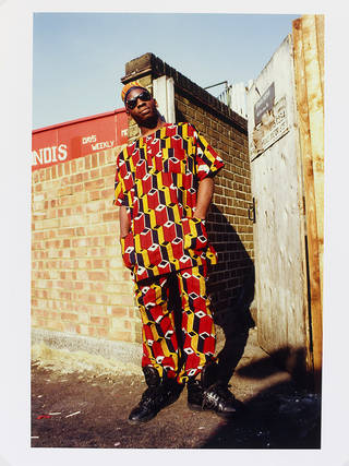 Photo of 'African Homeboy - Brixton, London, 1987', Normski. Museum no. E.110-2012. Supported by the National Lottery through the Heritage Lottery Fund. © Normski/ Victoria and Albert Museum, London