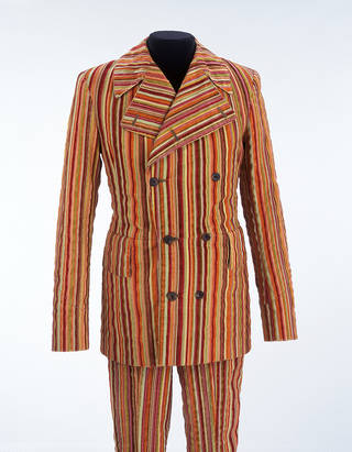 Photo of Man's suit,  Mr Fish, about 1968. Museum no. T.310 & A-1979. © Victoria and Albert Museum, London