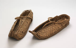 Photo of Pair of overshoes, 1550 – 1070 BC, Egypt. Museum no. 865 & A-1903. From Major Myers collection. © Victoria and Albert Museum, London