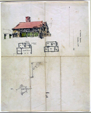 Photo of Design for a coach house, Edwin Landseer Lutyens, 1891 – 2. Museum no. E.2-1991. © Victoria and Albert Museum, London