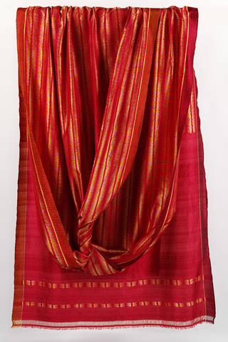 Photo of Ikat sari, designed by Neeru Kumar for Tulsi, Delhi, India, 2013. Museum no. IS.13-2015. © Victoria and Albert Museum, London