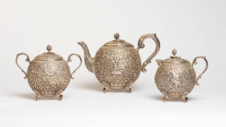 Photo of Tea set, Oomersi Mawji, about 1880 – 1890. Museum nos. IS.162, 163 and 164-2007. © Victoria and Albert Museum, London