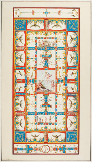 Design of the vault of the Eagle Room, Domus Aurea, by Vincenzo Brenna, about 1776. Museum no. CIS 8479:20. © Victoria and Albert Museum, London