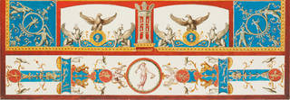 Design of the vault of the Eagle Room (Detail), Domus Aurea, by Vincenzo Brenna, about 1776. Museum no. CIS 8479:20. © Victoria and Albert Museum, London