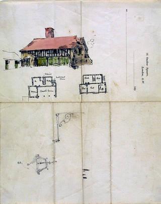 Design for a coach house, Edwin Landseer Lutyens, 1891-2. Museum no. E.2-1991. © Victoria and Albert Museum, London