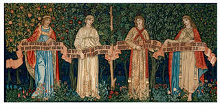 The Orchard, tapestry, William Morris, John Henry Dearle, Morris & Co, 1890, England. Museum no. 154-1898. © Victoria and Albert Museum, London