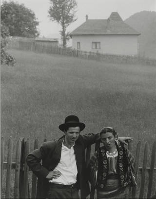 Photo of American, 1890 – 1976, Couple, Rucăr, Romania, photograph by Paul Strand, 1967, Philadelphia Museum of Art, The Paul Strand Retrospective, Collection, 1915-1975, gift of the estate of Paul Strand, 1980. © Paul Strand Archive/Aperture Foundation