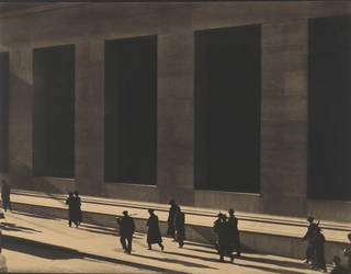 Photo of Wall Street, New York, photograph by Paul Strand, 1915. © Paul Strand Archive, Aperture Foundation
