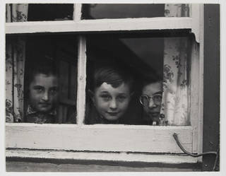 Photo of Milly, John and Jean MacLellan, photograph by Paul Strand, 1954, South Uist, Hebrides.  © Paul Strand Archive, Aperture Foundation. Photograph Victoria and Albert Museum, London