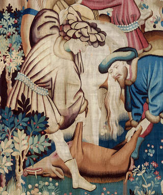 The Devonshire Hunting Tapestry: Boar and Bear Hunt (detail), 1425-1430, probably made in Arras, France. Museum no. T.204-1957. © Victoria and Albert Museum, London