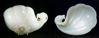 Wine cup made for the Emperor Shah Jahan, 1657, India, white nephrite jade. Museum no. IS.12-1962, © Victoria and Albert Museum, London