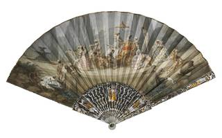 Photo of Fan with the Triumph of Harlequin, about 1750, Rome, Italy. Museum no. T.153-1920. © Victoria and Albert Museum, London