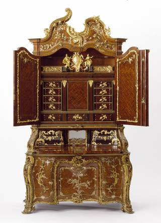 Photo of Writing cabinet, probably by Michael Kimmel, 1750 – 55, Dresden, Germany. Museum no. W.63-1977. © Victoria and Albert Museum, London