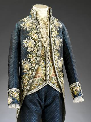 Photo of Court suit, about 1795 – 98, probably France. Museum no. T.148-1924. © Victoria and Albert Museum, London