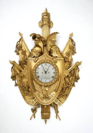 Photo of Clock, case about 1810 with later movement by John Moore and Son of London, Paris, France. Museum no.361-1901. © Victoria and Albert Museum, London