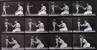 Child & Mother, from Animal Locomotion, photograph by Eadweard Muybridge, 1887 . Museum no. PH.979-1889. © Victoria and Albert Museum, London