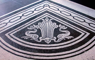 Detail of the V&A's mosaic floors, 2016. © Victoria and Albert Museum, London