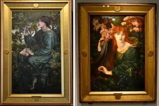 (Left) The Day Dream, Dante Gabriel Rossetti, 1880. © Victoria and Albert Museum, London. (Right) La Ghirlandata, Dante Gabriel Rossetti, 1873. © Guildhall Art Gallery, City of London