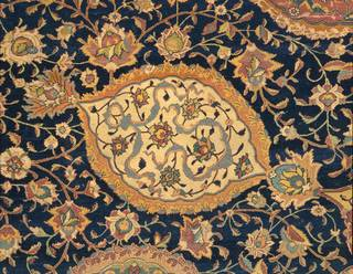 Photo of The Ardabil Carpet (detail), unknown, 1539-1540, Iran. Museum no.  272-1893. © Victoria and Albert Museum, London