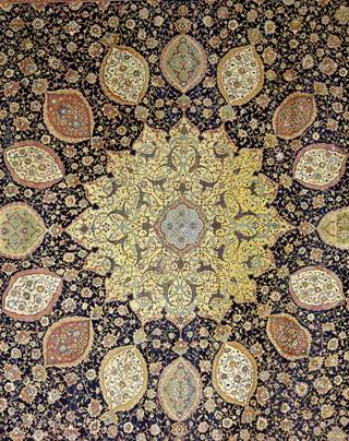 The Ardabil Carpet, unknown, 1539-1540, Iran. Museum no.  272-1893. © Victoria and Albert Museum, London