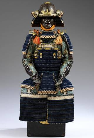 Photo of Suit of armour in haramaki style, 1850, Japan. Museum nos. M.95:1-1955 to M.95:14-1955. © Victoria and Albert Museum, London
