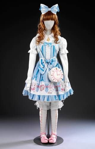 Photo of 'Sweet Lolita by Baby, The Stars Shine Bright', designed by Akinori & Fumiyo Isobe, 2011, Japan. Museum nos. FE.305-313-2011 & FE.5-2012 & FE.11-2012. © Victoria and Albert Museum, London