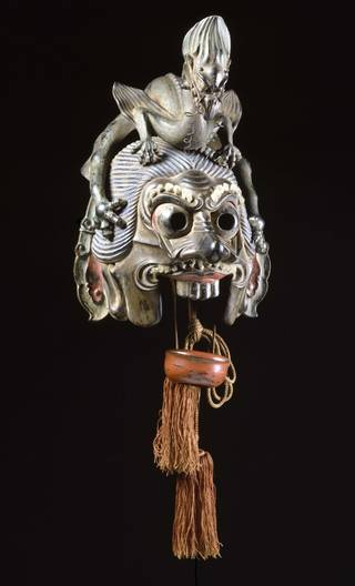 Photo of Bugaku mask, 18th century, Japan. Museum no. W.516-1922. © Victoria and Albert Museum, London