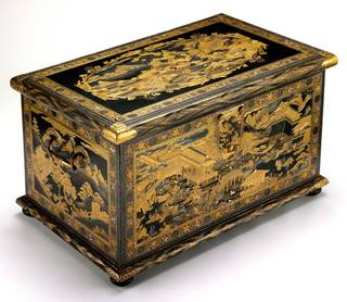 Photo of The Mazarin Chest, about 1640, Japan. Museum no. 412-1882. © Victoria and Albert Museum, London
