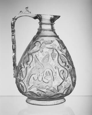 Photo of Rock crystal ewer, unknown,  1000-1050, Egypt. Museum no. 7904-1862. © Victoria and Albert Museum, London
