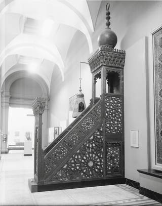 Photo of Mamluk minbar, unknown, 1468-1496, Egypt. Museum no. 1050:1 to 2-1869. © Victoria and Albert Museum, London