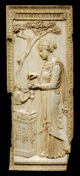 Photo of The Symmachi Panel, about 400 AD, Italy. Museum no. 212-1865. © Victoria and Albert Museum, London