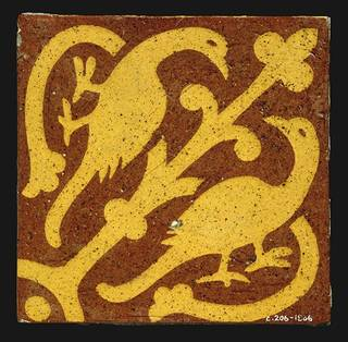 Tile, William Godwin,1863-1870, England. Museum no. C.206-1986. © Victoria and Albert Museum, London