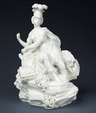'La France as War' (figure), Vincennes porcelain factory, about 1750-1752, France. Museum no. C.199-1984. © Victoria and Albert Museum, London