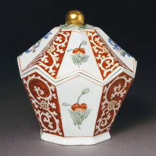 Sugar box, Chelsea porcelain factory, about 1752-55, England. Museum no. C.3&A-1966. © Victoria and Albert Museum, London