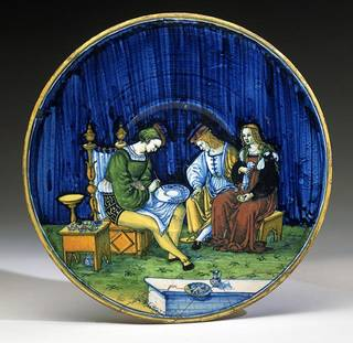 Plate, Maestro Jacopo, Italy, 1510. Museum no. 1717-1855. © Victoria and Albert Museum, London