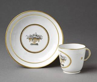 Coffee cup and saucer, about 1800, Staffordshire (probably), England. Museum no. C.581A&B-1935. © Victoria and Albert Museum, London