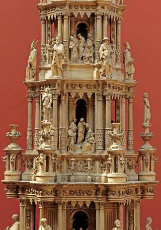 Photo of Plaster cast of a tabernacle from the Church of St. Leonard (detail), about 1876. Museum no. REPRO.1876-104. © Victoria and Albert Museum, London