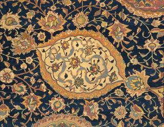 The Ardabil Carpet (detail), unknown, 1539-1540, Iran. Museum no.  272-1893. © Victoria and Albert Museum, London