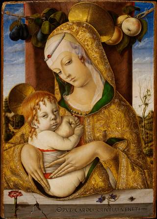 Photo of Virgin and Child, Carlo Crivelli, about 1480, Italy. Museum no. 492-1882. © Victoria and Albert Museum, London