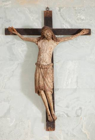 Photo of The Dead Christ (figure), about 1250. Italy. Museum no. A.2&:2-1986. © Victoria and Albert Museum, London