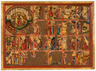 Photo of Altarpiece with 45 scenes of the Apocalypse, Master Bertram, about 1400, Germany. Museum no. 5940-1859. © Victoria and Albert Museum, London