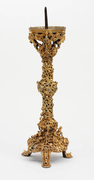 Photo of The Gloucester Candlestick, 1107 – 1113, England. Museum no. 7649:1 to 3-1861. © Victoria and Albert Museum, London