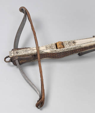 Photo of Hunting crossbow, unknown, about 1590, Germany. Museum no. M.2744-1931. © Victoria and Albert Museum, London