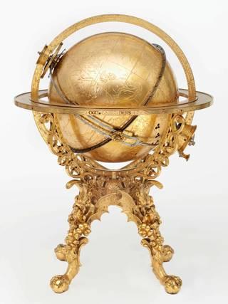 mechanical globe clock