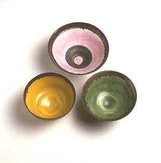 Bowls, Lucie Rie, 1976-80, England. Museum no. C.43-1982/C.44-1982/C.45-1982. © Victoria and Albert Museum, London