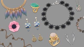 Jewellery banner flat